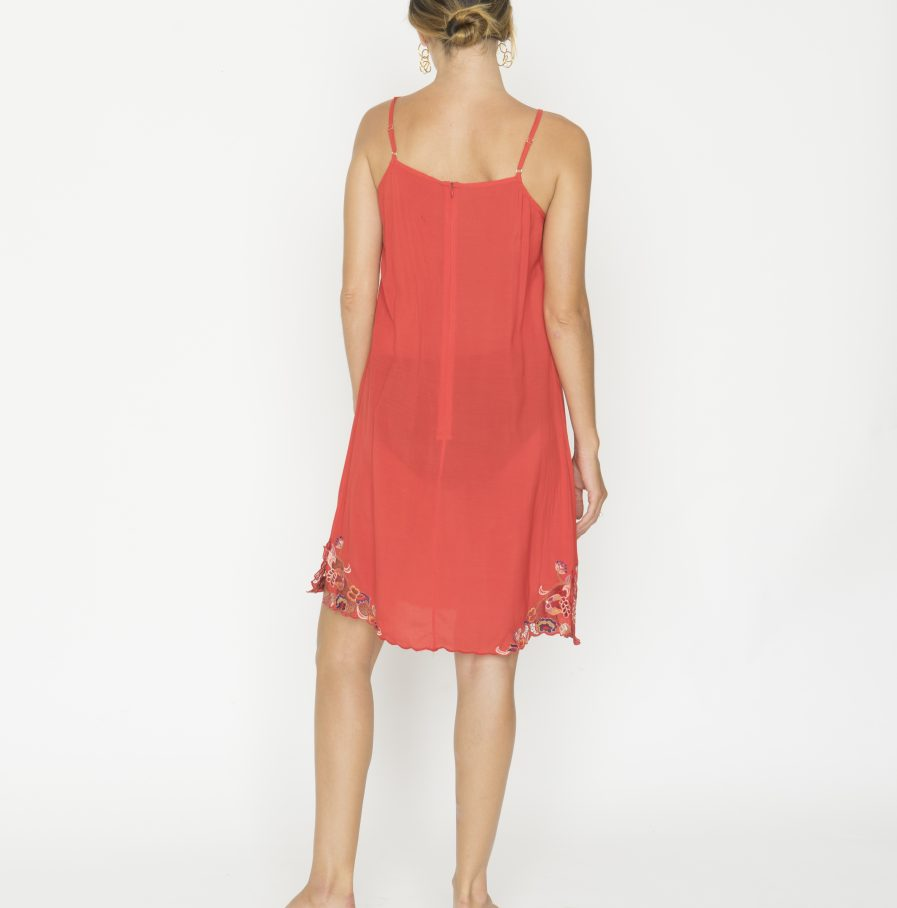 Yuan tank dress red china (1)