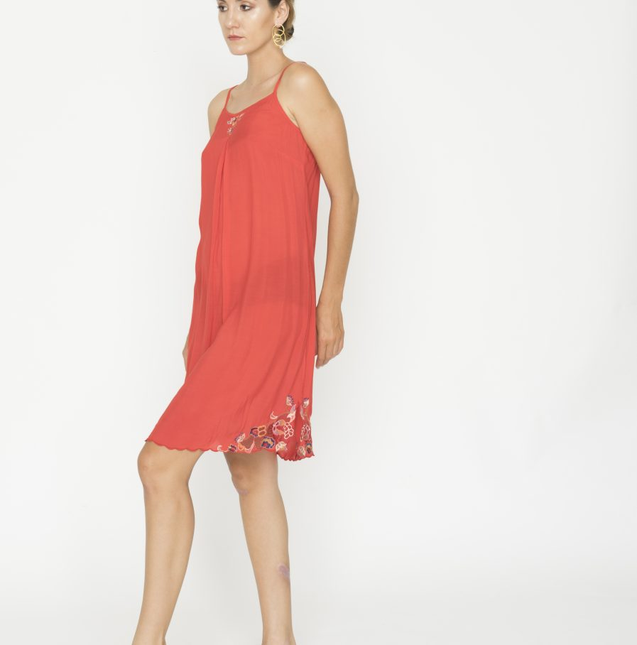 Yuan tank dress red china (3)