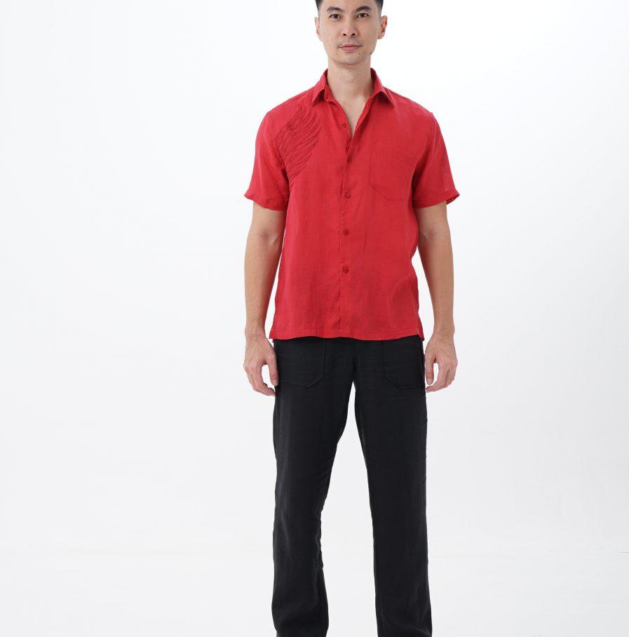 Kemeja Garuda resort fit red (1)