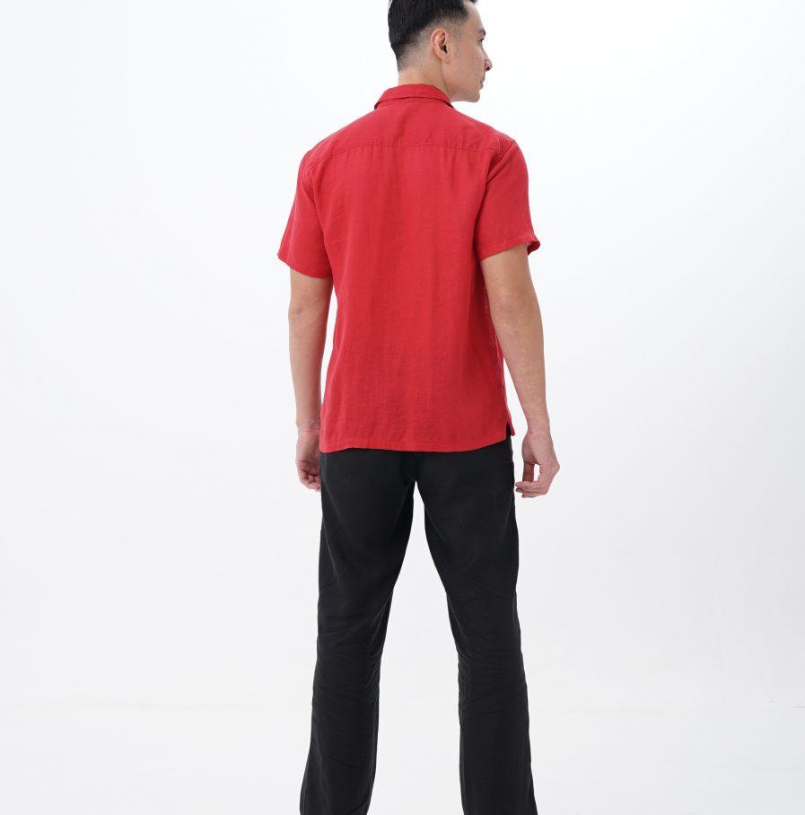 Kemeja Garuda resort fit red (14)