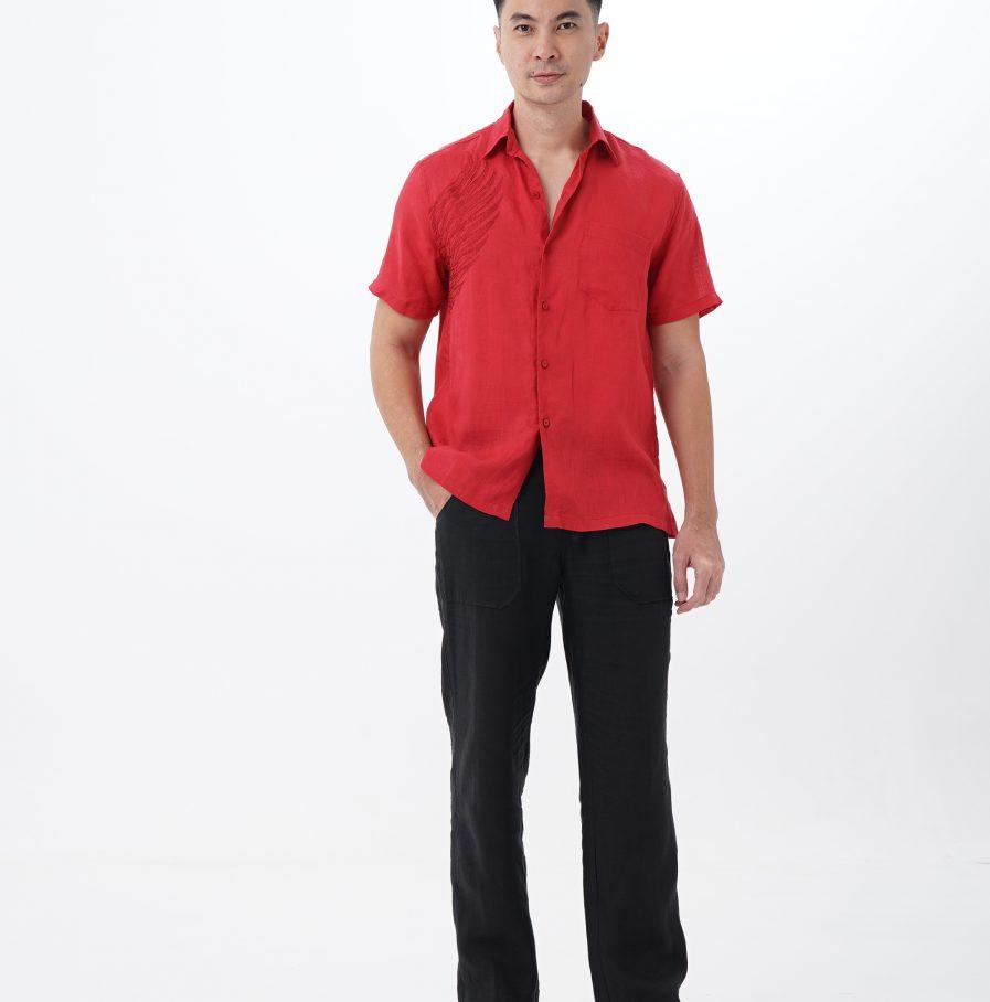 Kemeja Garuda resort fit red (18)