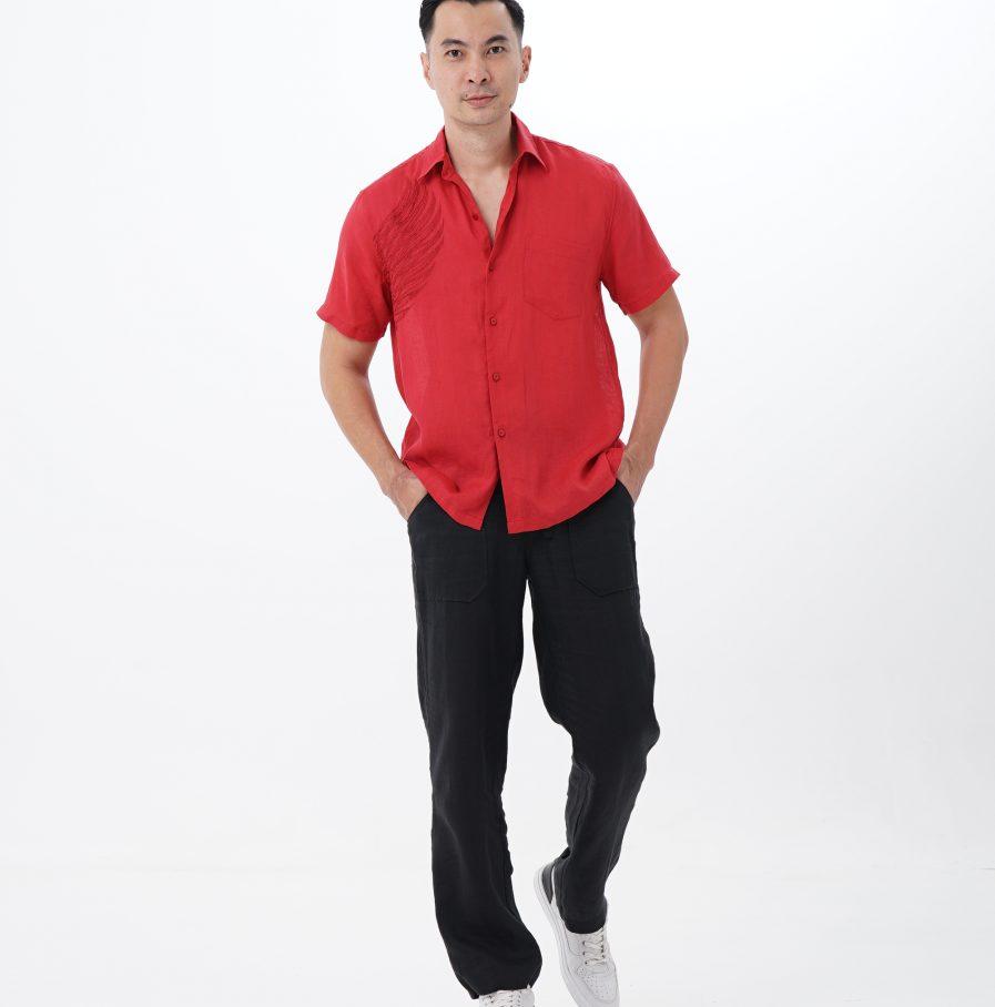 Kemeja Garuda resort fit red (31)