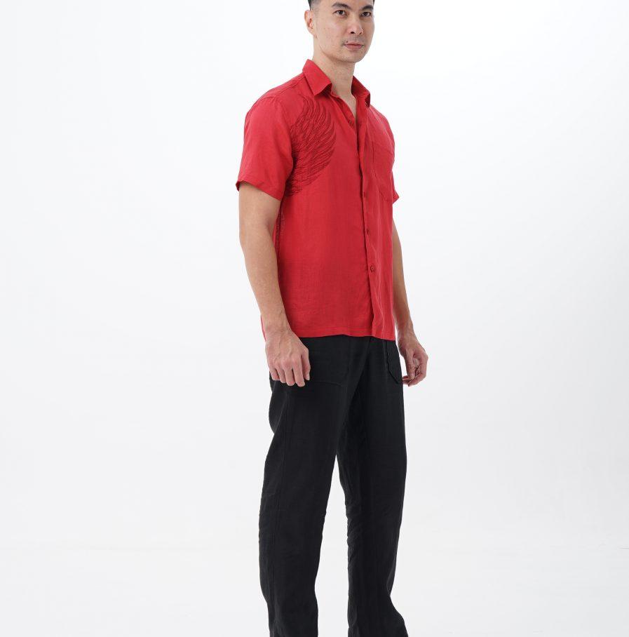 Kemeja Garuda resort fit red (8)