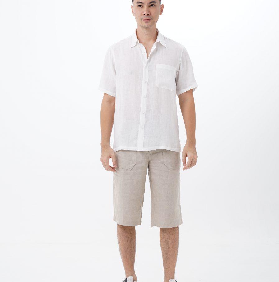 kemeja gema normal fit white (2)